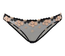 Bethanie Floral-embroidered Mesh Briefs