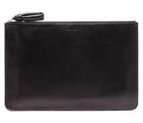 Logo-debossed Leather Pouch