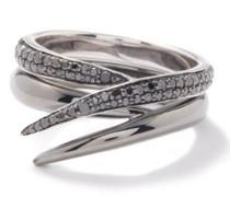 Duo Diamond & 18kt Black-gold Ring