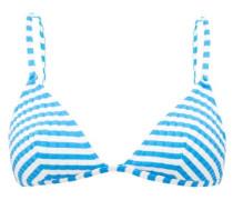 The Lulu Striped Triangular Bikini Top