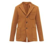 Slanega Single-breasted Slubbed Wool-blend Jacket
