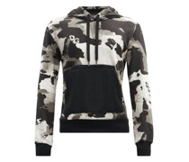 Camouflage-print Cotton-blend Hooded Sweatshirt
