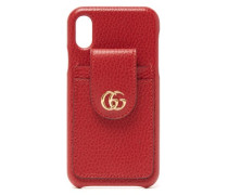Gg-plaque Grained-leather Iphone X Case