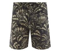 Pardalis Reptile-print Cotton-poplin Pyjama Shorts