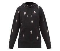 Crystal-embellished Cotton Hooded Sweatshirt