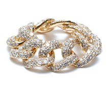 Diamond & 18kt Gold Chain-link Ring