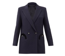 Resolute Double-breasted Wool Suit Jacket