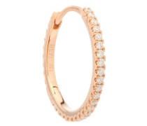 Diamond & 18kt Rose Gold Single Earring