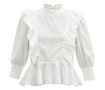 Sylvie Ruffled Cotton-poplin Blouse