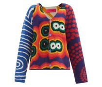 Thelma Abstract-jacquard Cashmere Cardigan