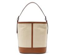 Fique And Leather Shoulder Bag