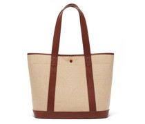 Helene Leather-trimmed Canvas Tote Bag