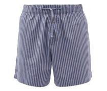 Striped Organic-cotton Pyjama Shorts