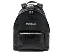 Everyday Crocodile-effect Leather Backpack
