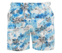 Bulldog Miami Beach-print Swim Shorts