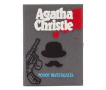 Poirot Investigates Embroidered Book Clutch Bag