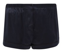Tia Washed-silk Pyjama Shorts