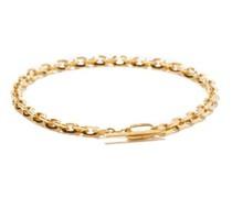 Knife Edge 18kt Gold Chain Bracelet