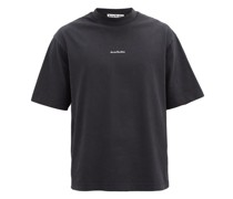 Extorr Logo-embroidered High-neck Cotton T-shirt