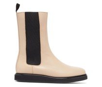 Mid-calf Leather Chelsea Boots