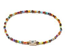 Tiger's Eye, Glass & 14kt Gold Beaded Bracelet