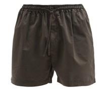 Scrunchy Cotton And Silk-blend Shorts