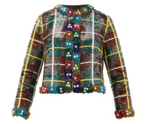 Sequinned Checked Jacket