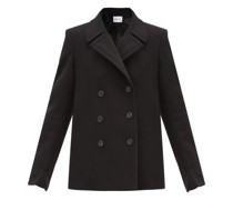 Halifax Double-breasted Wool-blend Pea Coat
