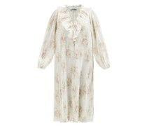 Floral-print Recycled-fibre Georgette Dress