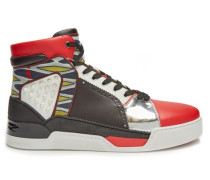 Loubikick High-top Leather Trainers