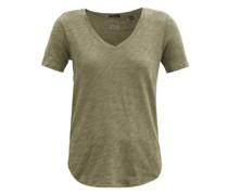 V-neck Slubbed Cotton-jersey T-shirt