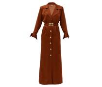 Tamara Belted Satin Shirt Dress