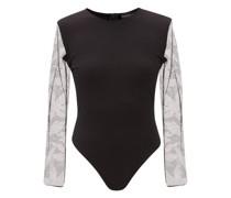 Crystal-embellished Cotton-jersey Bodysuit