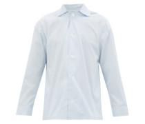 Hairline-striped Cotton-poplin Pyjama Shirt