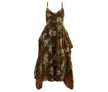 Ibbie Floral-print Velvet Dress