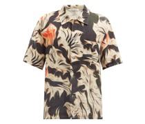 Platigyra-print Linen Shirt