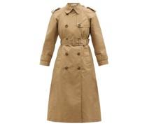 Bow-appliqué Cotton-blend Gabardine Trench Coat