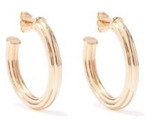 18kt Gold-plated Large Hoop Earrings