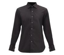 French-cuff Cotton-blend Shirt
