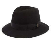 Ribbon-trimmed Fedora Hat