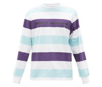 Striped Cotton-jersey Long-sleeved T-shirt