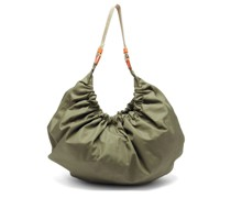 Gathered Recycled-fibre Shell Shoulder Bag