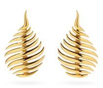 Flame 18kt Gold Drop Earrings