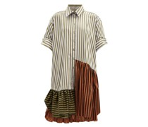 Upcycled Striped Cotton Shirt Dress
