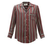 Paris Striped Sandwashed-silk Pyjama Shirt
