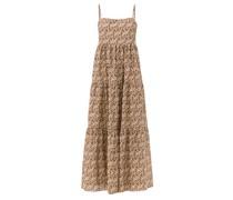 Scoop-back Floral-print Cotton Maxi Dress