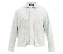 Grain Foliage-print Cotton-blend Jacket