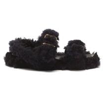 Shearling Leather Flatform Sandals