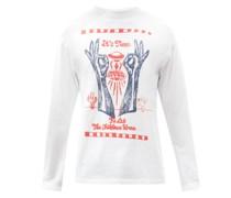 It's Time Slogan-print Cotton-jersey T-shirt