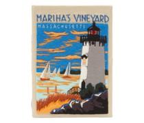 Martha's Vineyard Embroidered Box Clutch